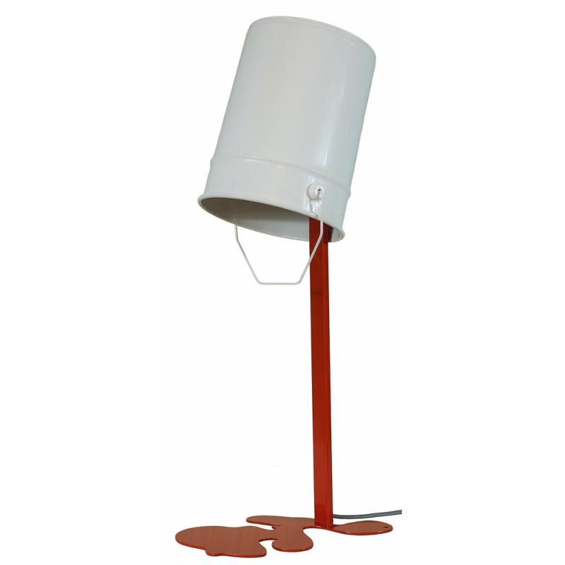 lampe pot de peinture coulure de peinture nathalie be. Black Bedroom Furniture Sets. Home Design Ideas